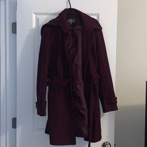 Burgundy Trench Coat